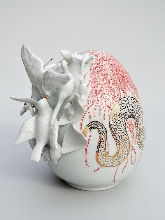 Beautiful Porcelain Egg Sculptures by Juliette Clovis