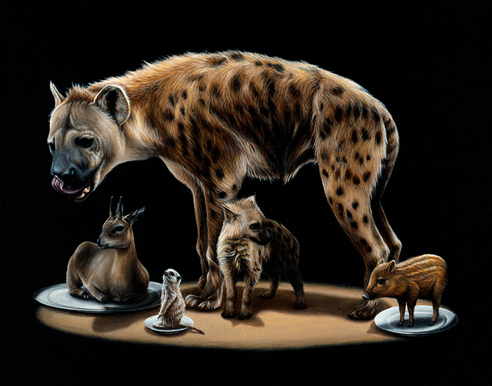 Gorgeous Surreal Animal Paintings by Jacub Gagnon
