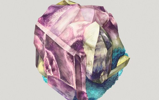 Gorgeous Watercolor Crystal Illustrations by Karina Eibatova