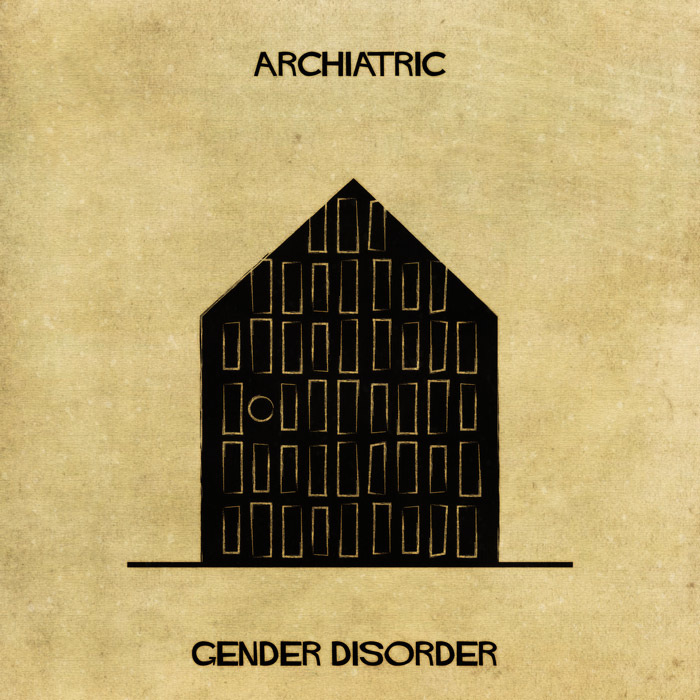 Mental Disorders Interpreted Through Architectural Illustrations by Federico Babina