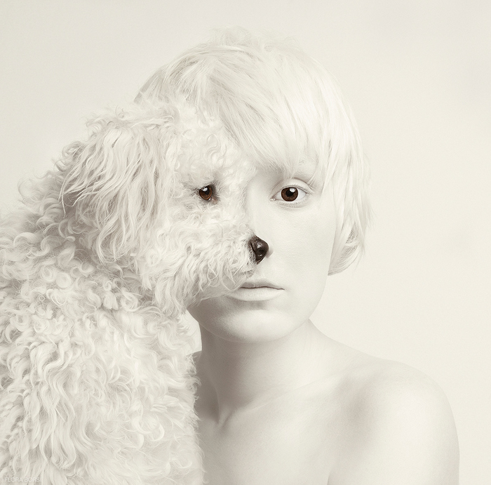 Animeyed Surreal Self-Portraits by Flora Borsi