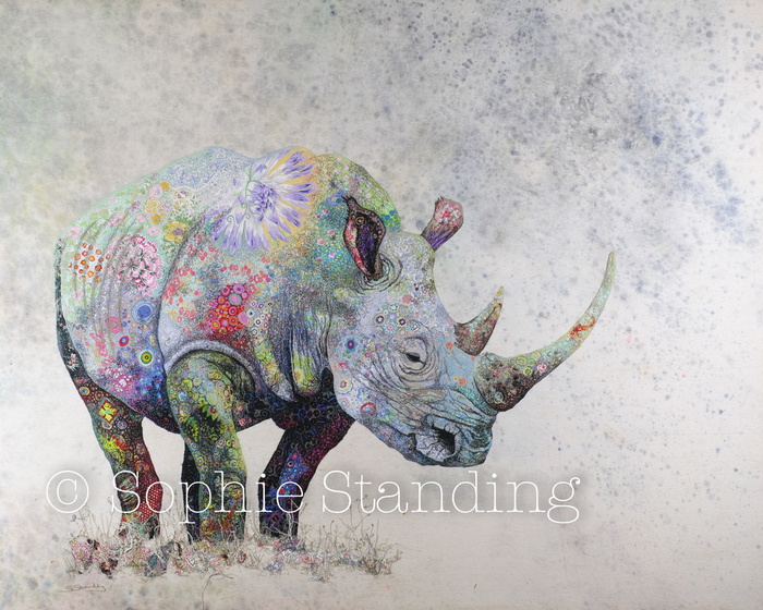 Colorful Textile Art Depicting African Wildlife by Sophie Standing