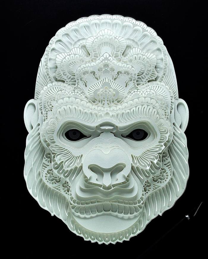 Intricate Paper Cut portraits of Endangered Animals by Patrick Cabral