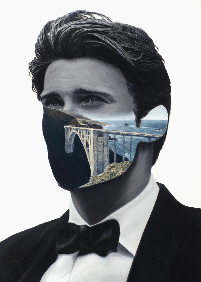 Beautiful Surreal Paintings Juxtapose Human Portraits With Landscapes