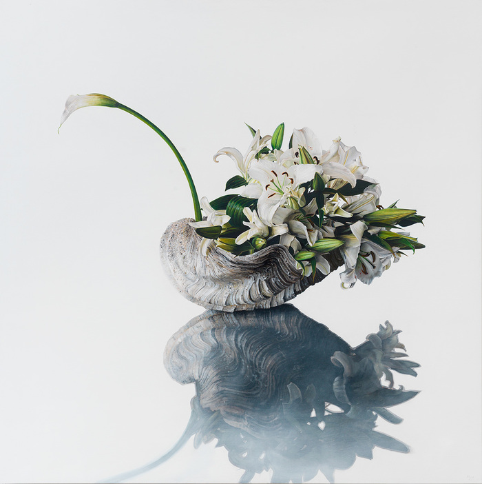 Hyperrealistic Paintings of Floral Arrangements Resembling Animals by Michael Zavros