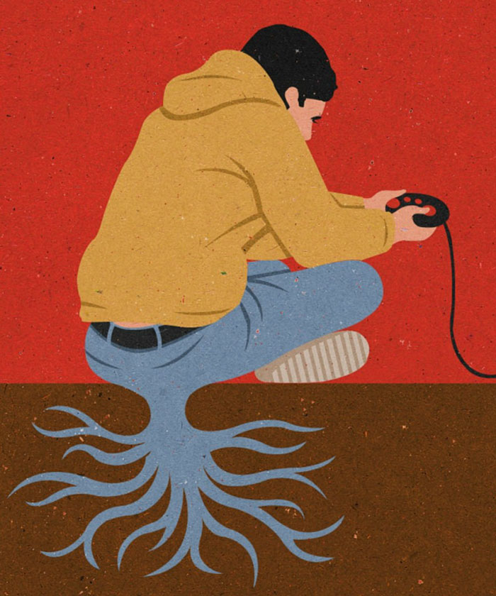 John Holcroft's Satirical Illustrations Portray The Issues of the Modern World