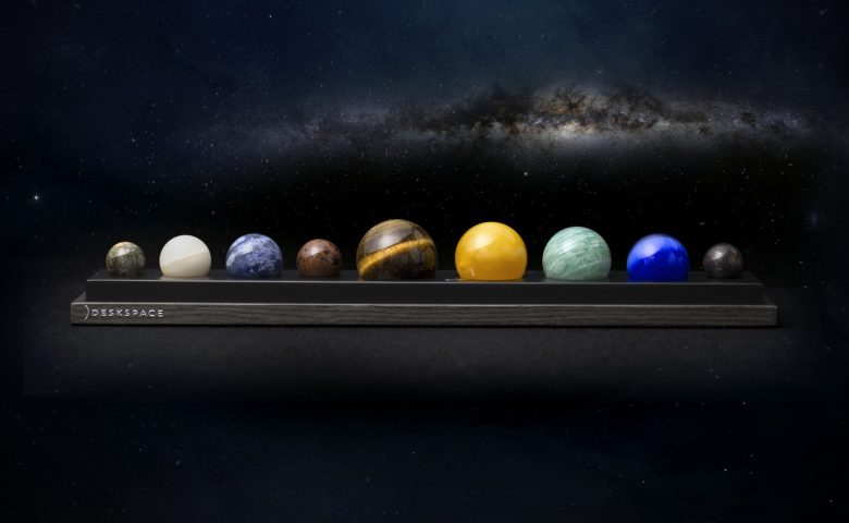 DeskSpace: A Handcrafted Solar System Desk Accessory by DeskX