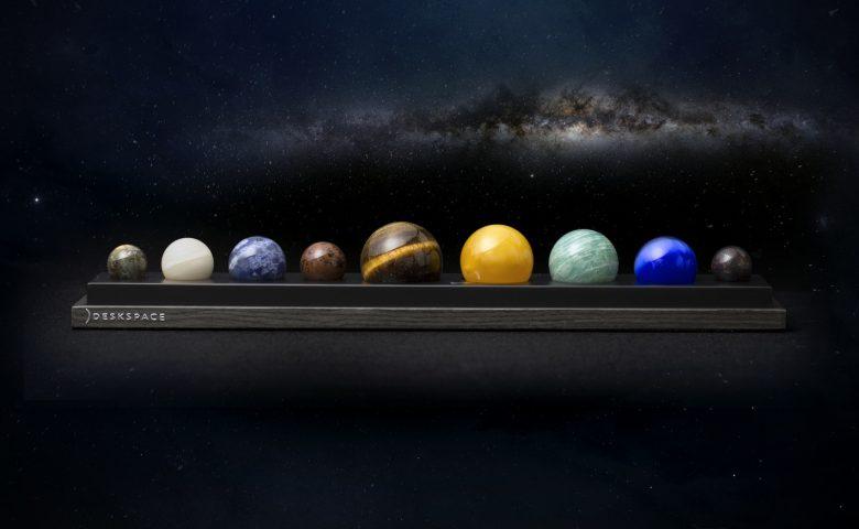 DeskSpace: A Handcrafted Solar System Desk Accessory by DeskX