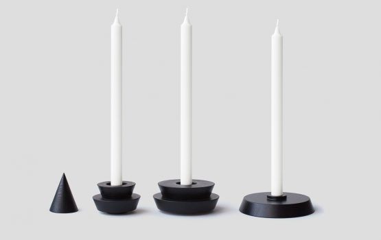 HANOI, A Playful Set of Wooden Candleholders by Sergey Gotvyansky