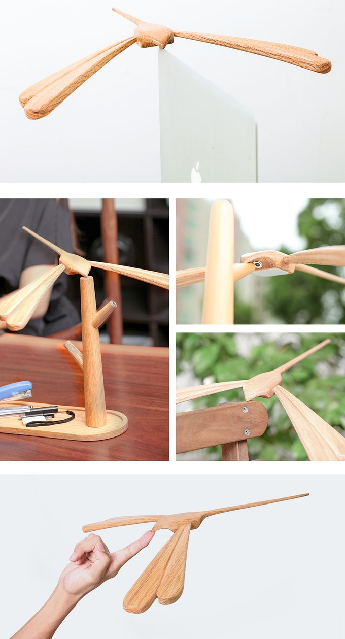 Stylish Balancing Bird Lamp by CYRO