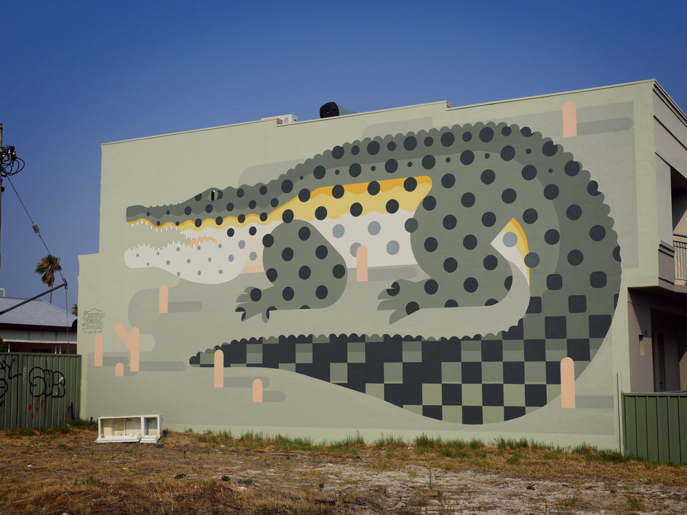 Large-Scale Murals of Flora And Fauna by Amok Island