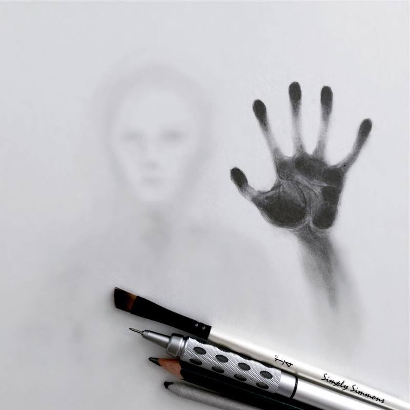 Spooky Ghost Like Silhouette Sketches by Willie Hsu