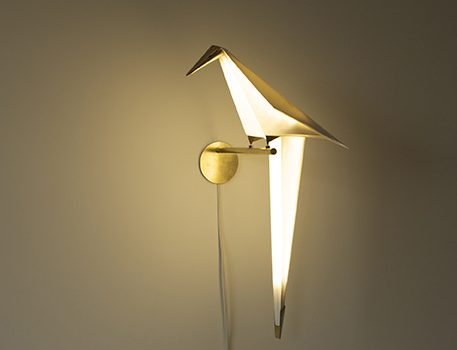 The Perch Light, a Sculptural Bird Lamp by Umut Yamac